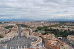 Basilica di San Pietro nella città del Vaticano a Roma Immagine Stock Libera da Diritti