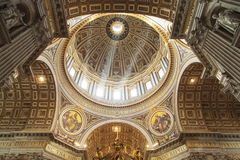 Basilica di San Pietro. Papal Basilica of Saint Peter is one of the largest cathedral in the world, is also the center of the Catholic church. Is the center of stock images