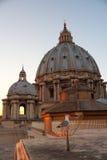 Basilica di San Pietro in Vaticano at sunset Stock Image