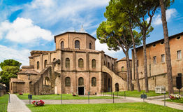 Basilica di San Vitale en Ravena, Italia Imagenes de archivo