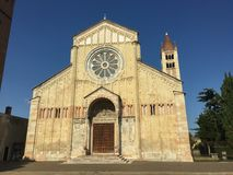 Basilica di San Zeno Maggiore church Verona city the Veneto region Italy Europe. royalty free stock image
