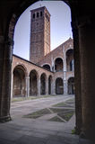 Basilica di Sant Ambrogio royalty free stock photography