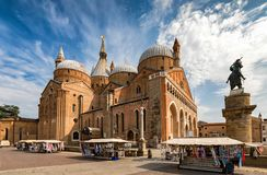 The Basilica di Sant`Antonio in Padova, Italy. On a summer day stock photo