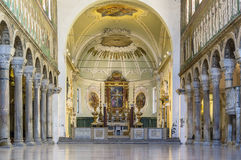 Basilica di Sant Apollinare Nuovo, Ravenna L'Italia Fotografia Stock