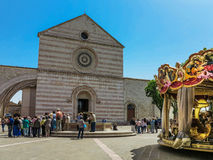 Basilica di Santa Chiara in Assisi, Italy Royalty Free Stock Images