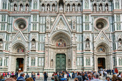 The Basilica di Santa Croce (Basilica of the Holy Cross) in Flor Stock Photos