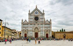 The Basilica di Santa Croce (Basilica of the Holy Cross) in Florence Royalty Free Stock Images