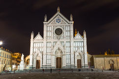 Basilica di Santa Croce  (Basilica of the Holy Cross) in Florence Royalty Free Stock Images