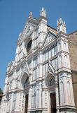 The Basilica di Santa Croce & x28;Basilica of the Holy Cross& x29; on squa royalty free stock images