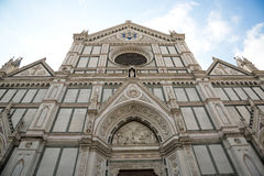 The Basilica di Santa Croce & x28;Basilica of the Holy Cross& x29; on square of the same name in Florence, Tuscany, Italy. Florence is a popular tourist royalty free stock photo