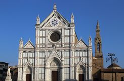 The Basilica di Santa Croce church in Florence, Italy Royalty Free Stock Photography