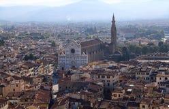 Basilica di Santa Croce church in Florence, Italy Stock Photos