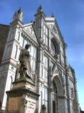 Basilica di Santa Croce and Dante hdr Stock Photography