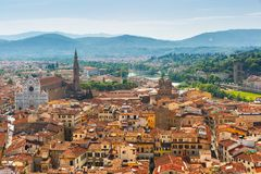 Basilica di Santa Croce in Florence, Italy stock images