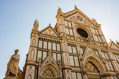 Basilica di Santa Croce, Florence, Tuscany, Italy. Basilica di Santa Croce Basilica of the Holy Cross on square of the same name in Florence, Tuscany, Italy royalty free stock image