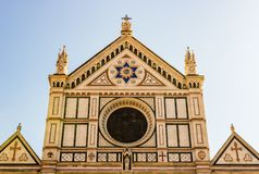 Basilica di Santa Croce, Florence, Tuscany, Italy. Basilica di Santa Croce Basilica of the Holy Cross on square of the same name in Florence, Tuscany, Italy stock image