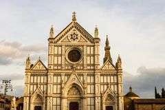 Basilica di Santa Croce, Florence, Tuscany, Italy. Basilica di Santa Croce Basilica of the Holy Cross on square of the same name in Florence, Tuscany, Italy royalty free stock photography