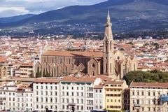 Basilica di Santa Croce in Florence, Tuscany, Italy Royalty Free Stock Photography