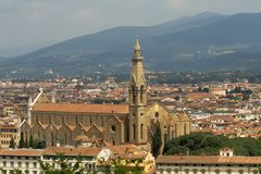 The Basilica di Santa Croce (Holy Cross), Florence Royalty Free Stock Photos