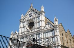 The Basilica di Santa Croce Basilica of the Holy Cross on square of the same name in Florence, Tuscany, Italy. Florence is a popular tourist destination of stock photos