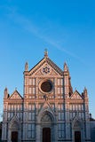 Basilica di Santa Croce with negative space. Santa Croce, rebuilt for the Franciscan order in 1294 by Arnolfo di Cambio, is the burial place for the great and royalty free stock image