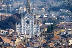 Basilica di Santa Croce, old Florence, Italy Royalty Free Stock Photos