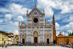The Basilica di Santa Croce on square of the same name. Florence royalty free stock photos