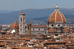 The Basilica di Santa Maria del Fiore Royalty Free Stock Images