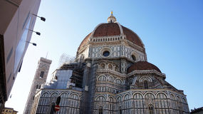 The Basilica di Santa Maria del Fiore Basilica of Saint Mary of the Flower with Brunelleschi dome, Florence, Italy Royalty Free Stock Images