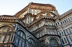 The Basilica di Santa Maria del Fiore Basilica of Saint Mary of the Flower with Brunelleschi dome, Florence, Italy Stock Images