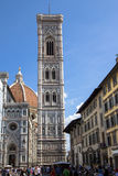The Basilica di Santa Maria del Fiore and bell tower in Florence Royalty Free Stock Photography