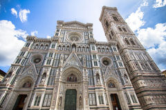 The Basilica di Santa Maria del Fiore and bell tower in Florence. Cathedral Santa Maria del Fiore Duomo and Giottos bell tower campanile, Florence, Italy Stock Photography