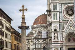 The Basilica di Santa Maria del Fiore, Florence. The Greatest church of Florence Basilica of Saint Mary of the Flower , Italy stock photos
