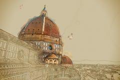 The Basilica di Santa Maria del Fiore, Florence Stock Images