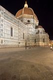 The Basilica di Santa Maria del Fiore at night, Florence, Italy. The Greatest church of Florence Basilica of Saint Mary of the Flower at night, Italy stock photo