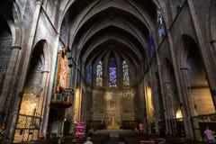Basilica di Santa Maria del Pi Immagini Stock Libere da Diritti