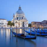 Basilica di Santa Maria della Salute and gondola. Stock Photo
