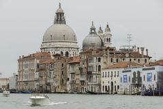 Basilica di Santa Maria della Salute, Grand Canal and lagoon - Venice royalty free stock image