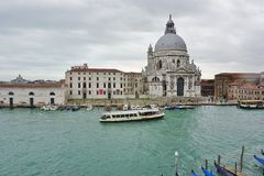 The Basilica di Santa Maria della Salute on the Grand Canal in Venice Royalty Free Stock Images
