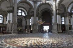 Basilica di Santa Maria della Salute interior in Venice, Italy. Stock Images