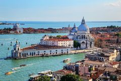 Basilica di Santa Maria della Salute on Punta della Dogana in Venice, Italy. This church was commisioned by Venice`s plague survivors as thanks for salvation stock images