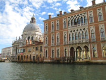 Basilica di Santa Maria della Salute and Stunning Venetian Style Architectures along the Grand Canal of Venice stock photos