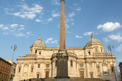 Basilica di Santa Maria Maggiore, Cappella Paolina, view from  Piazza Esquilino in Rome. Royalty Free Stock Photography