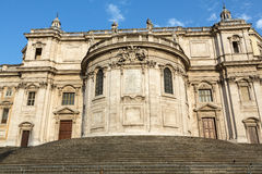 Basilica di Santa Maria Maggiore, Cappella Paolina, view from  Piazza Esquilino in Rome. Royalty Free Stock Photos
