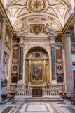 Patrizi Chapel in the Basilica of Santa Maria Maggiore in Rome, Italy. stock photos
