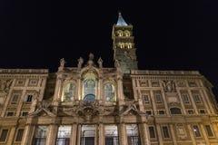 Basilica di Santa Maria Maggiore at night in Rome, Italy. Royalty Free Stock Photo