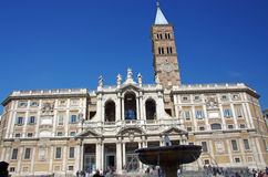Basilica di Santa Maria Maggiore in Rome royalty free stock photo