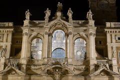Basilica di Santa Maria Maggiore in Rome. Front of Basilica di Santa Maria Maggiore in Rome, Italy. Night Stock Photography