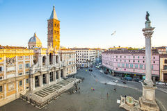 The Basilica di Santa Maria Maggiore in Rome, Italy Stock Photo