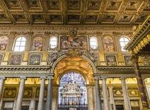 Basilica di Santa Maria Maggiore, Rome, Italy. ROME, ITALY, JUNE 14, 2015 : interiors and architectural details of Basilica di Santa Maria Maggiore, june 14 Stock Images